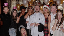 Taylor Swift with Beyonce, Jay Z, Justin Timberlake, Sam Smith, HAIM for her 25th birthday party Pic: Instagram