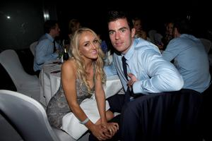 Dublins Michael Darragh Macualey with Rosie Cooney  at the Winners Banquet in The Gibson Hotel