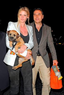 Happier times: Right, Lara Stone with David Walliams and their much loved Bertie.