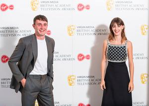 Paul Mescal and Daisy Edgar-Jones arrive for the Virgin Media BAFTA TV awards at the TV Centre, Wood Lane, London. Photo credit: Dominic Lipinski/PA Wire