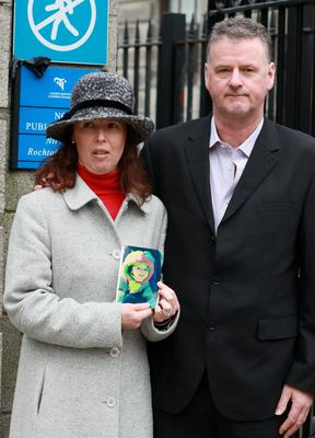Colleen and Kevin Worthington, of Clounsharragh, Cloghane, Castlegregory, Co. Kerry pictured outside the Four Court after a High Court settlement for damages of €2.5Million on behalf of their daughter, Skye.Pic: Collins Courts