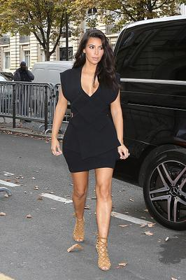 Kim Kardashian arrives at the 'Art District' apartments on September 28, 2014 in Paris, France.  (Photo by Marc Piasecki/GC Images)