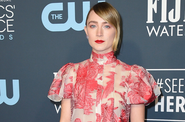 Saoirse Ronan is nominated for an Oscar for her role in Little Women. Photo: AP