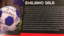 General view of the matchday programme which includes tributes to missing footballer Emiliano Sala before the Premier League match at the Emirates Stadium, London.