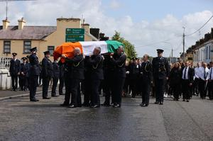 The funeral mass of Detective Garda Colm Horkan in Charlestown, Co Mayo. Photo: Mark Condren