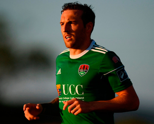 EURO AIM: Cork City's Karl Sheppard is relishing this evening's Champions League clash with Legia Warsaw. Photo: Stephen McCarthy/Sportsfile