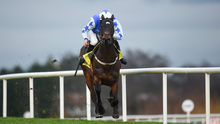 Kemboy on the way to winning the Savills Steeplechase of 175,000 (Grade1) during Day 3 of the Leopardstown Festival at Leopardstown racecourse in Dublin. Photo by Barry Cregg/Sportsfile