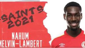 Nahum Melvin-Lambert has signed for St Pat's on loan from Reading.