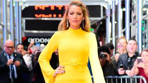 """Actress Blake Lively  is seen outside """"Good Morning America"""" on October 16, 2017 in New York City.  (Photo by Raymond Hall/GC Images)"""
