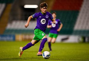 Kevin Zefi, pictured in action for Shamrock Rovers II last September, is set to move to Inter Milan. Photo by Harry Murphy/Sportsfile