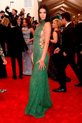 """Kendall Jenner attends the """"China: Through The Looking Glass"""" Costume Institute Benefit Gala at the Metropolitan Museum of Art on May 4, 2015 in New York City.  (Photo by Larry Busacca/Getty Images)"""