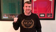 Paddy Barnes posed in MGM jumper