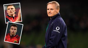 Joe Schmidt has named his Ireland squad which includes Andrew Conway (top left) and Rory Scannell (bottom left)