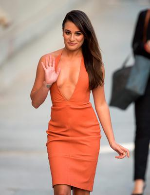 Lea Michele is seen at 'Jimmy Kimmel Live' on September 22, 2015 in Los Angeles, California.  (Photo by RB/Bauer-Griffin/GC Images)
