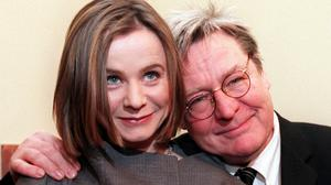 Firm favourite: Actress Emily Watson with the late Alan Parker at the première of 'Angela's Ashes'. Photo: Gerry Mooney
