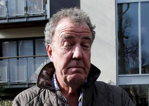 Jeremy Clarkson outside his London home. The 'Top Gear' star has been suspended by the BBC over alllegations he struck Irish producer Oisin Tymon