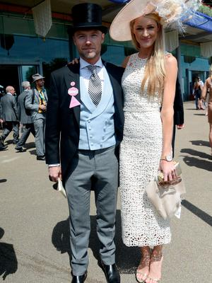 ASCOT, ENGLAND - JUNE 18:  Ronan Keating and Storm Uechtritz attend day three of Royal Ascot at Ascot Racecourse on June 18, 2015 in Ascot, England.  (Photo by Kirstin Sinclair/Getty Images for Ascot Racecourse)