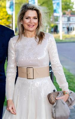 Queen Maxima of The Netherlands arrives at Theater De Flint for the Kingsday Concert on April 15, 2019 in Amersfoort, Netherlands. (Photo by Patrick van Katwijk/Getty Images)