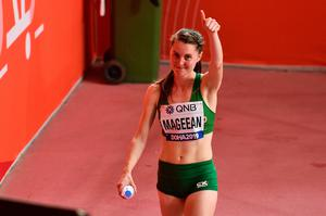 Ciara Mageean of Ireland after competing in the Women's 1500m Final during day nine of the 17th IAAF World Athletics Championships Doha 2019. Photo by Sam Barnes/Sportsfile