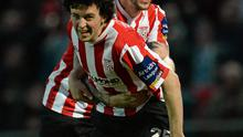 Barry McNamee scored for Derry against Drogheda