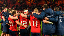 The bond between the Munster players is stronger than ever and they have delivered a series of remarkable performances in recent weeks. Photo: Sportsfile