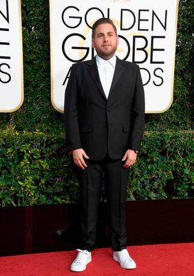 Actor Jonah Hill attends the 74th Annual Golden Globe Awards at The Beverly Hilton Hotel on January 8, 2017 in Beverly Hills, California.  (Photo by Frazer Harrison/Getty Images)