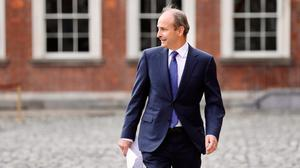 Taoiseach Micheál Martin following the first cabinet meeting at Dublin Castle. Photo: Julien Behal/PA Wire