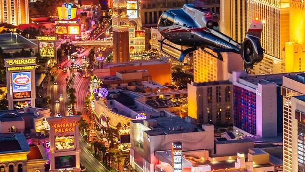 Maverick Helicopters' night flight over the Las Vegas strip
