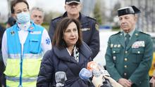 Defence Minister Margarita Robles says soldiers found bodies in care homes. Photo: Carlos Alvarez/Getty Images