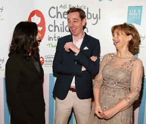 Important work: Ali Hewson, Ryan Tubridy and Adi Roche at the charity lunch. photo: brian mcevoy