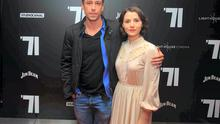 (L to R) Killian Scott, Charlie Murphy  during the Premiere of 71 at Light House Cinema, Smithfield, Dublin Photo:  Gareth Chaney Collins