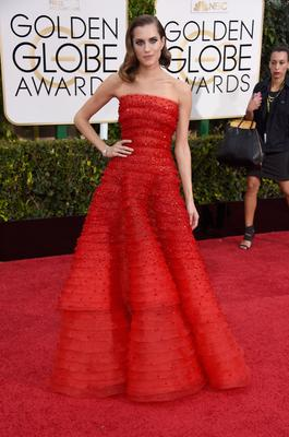 Actress Allison Williams attends the 72nd Annual Golden Globe Awards
