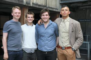 20/6/14 Producers Dan Colley, Jack Gleeson, Matt Smyth and Aaron Heffernan at the opening night of Ernest and The Pale Moon at Trinity College, Dublin.Picture:Arthur Carron
