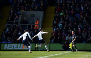 West Bromwich Albion's Craig Gardner celebrates scoring his sides second goal of the game