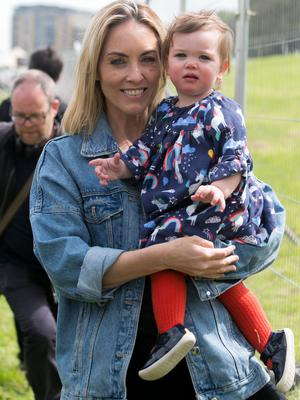 Kathryn Thomas and daughter Ellie at WellFest 2019