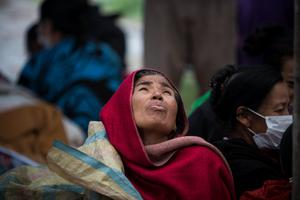 Displaced Families in Kathmandu, Nepal after the earthquake Pic:Mark Condren