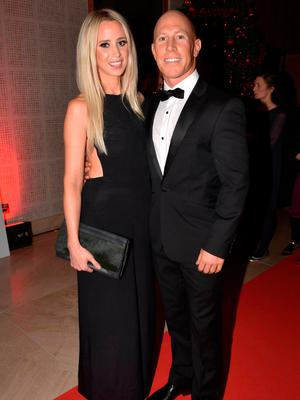 Peter Stringer and wife Debbie O'Leary