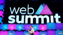 Mike Schroepfer from Faceboo speaking about 'Connecting the World' at the Web Summit at the RDS. Photo: Steve Humphreys.