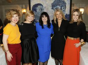 Sonya Lennon, Cecelia Ahern, Marian Keyes, Cheryl Joannides and Amy Huberman at the Bobbi Brown Dress For Success charity lunch at Residence