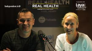 Karl Henry with this week's guest, Catherina McKiernan