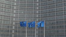 European Union flags fly outside the European Commission headquarters in Brussels. Photo: REUTERS