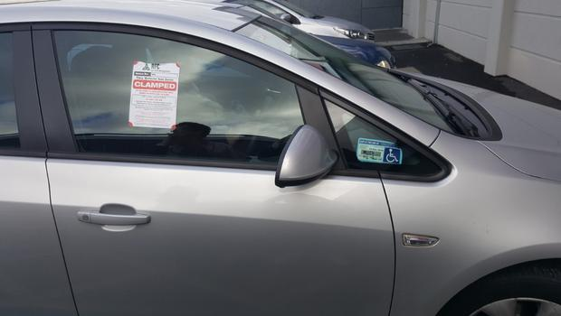 Ita Doyle says the disabled parking pass was on the car when it was clamped