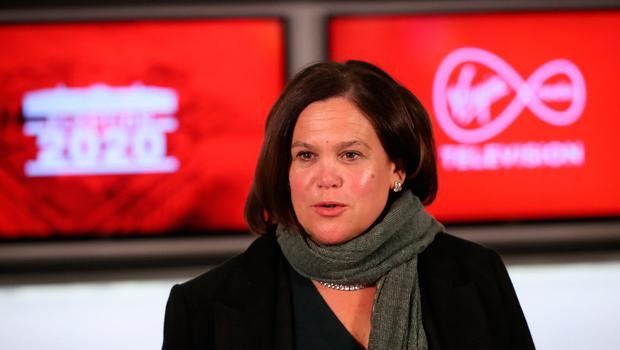 Sinn Fein leader Mary Lou McDonald during a seven way leaders General Election debate at the Virgin Media Studios in Dublin, Ireland. Photo: Niall Carson/PA Wire