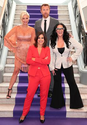 Denise Van Outen, Lucy Kennedy, Jason Byrne and Michelle Visage at TV3's new season launch at The National Concert Hall. Picture: Brian McEvoy