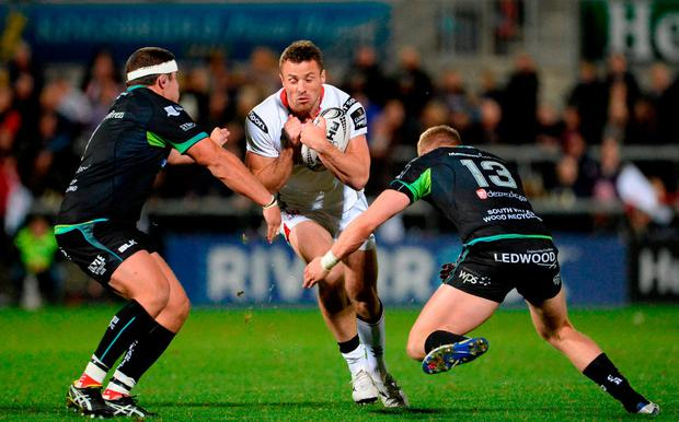 Tommy Bowe in action for Ulster