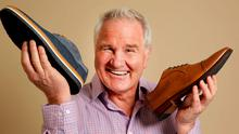 Brent Pope pictured with his new range of mens shoes Picture: Gerry Mooney