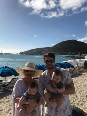 Bernard Brogan and wife Keira with twin sons Donagh and Keadán. Picture: Instagram