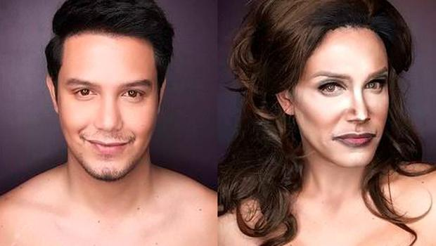 Paolo Ballesteros transforms himself into Caitlyn Jenner using only makeup