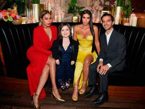 (L-R)  Producer and Actress Lala Anthony, Writer and Activist Sinead Burke, Founder and CEO, KKW Kim Kardashian and Founder, The Business of Fashion Imran Amed attend an intimate dinner hosted by The Business of Fashion to celebrate its latest special print edition 'The Age of Influence' at Peachy's/Chinese Tuxedo on May 8, 2018 in New York City.  (Photo by Dimitrios Kambouris/Getty Images for The Business of Fashion)