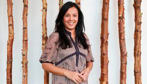 Liz Bonnin photographed at the TCD Science Gallery for Weekend magazine. Picture: Frank McGrath
